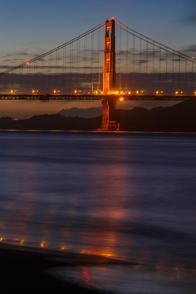 Golden Gate Bridge reflection