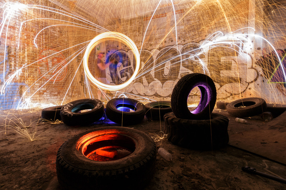 Steel Wool with tires