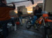 People Filming a Video with a Motorcycle