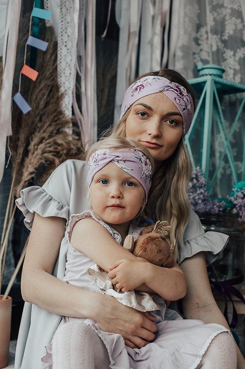 Akwarelowe kwiaty Mama i Córka