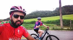 Primeira pedalada do ano. Ontem, só nós dois