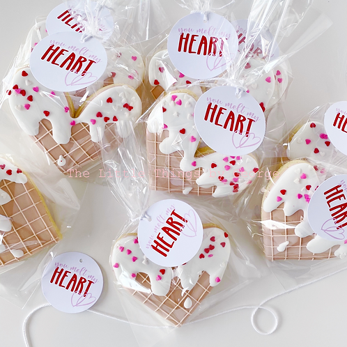 'You melt my heart' ice-cream cookies