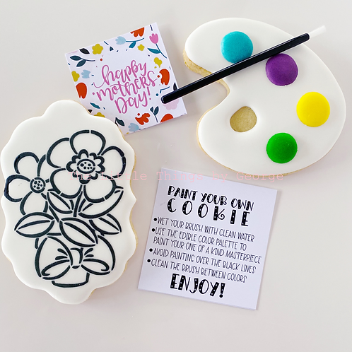 Paint Your Own Cookies - Mother's Day 2 pack