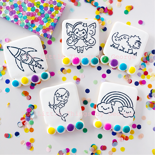 Paint Your Own Cookies - Party Pack of 10