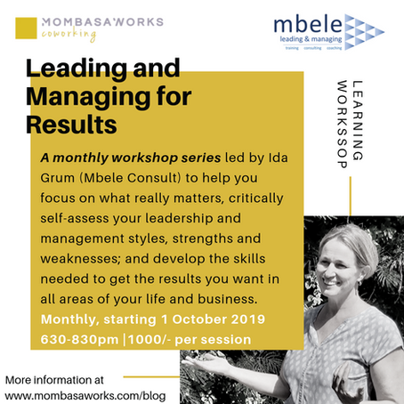 Leading for Results Series: Workshop Series