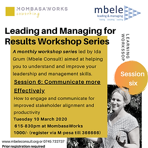 Leading and Managing for Results session