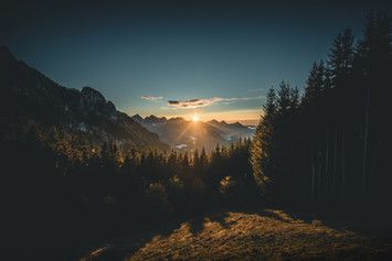 Sonnenuntergang am Tegelberg
