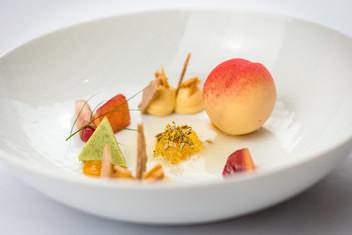 Pfirsich und Bronzefenchel