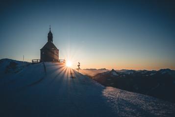 Sonnenuntergang auf dem Wallberg
