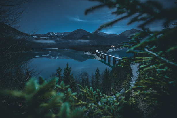 Mondnacht am Sylvensteinspeicher