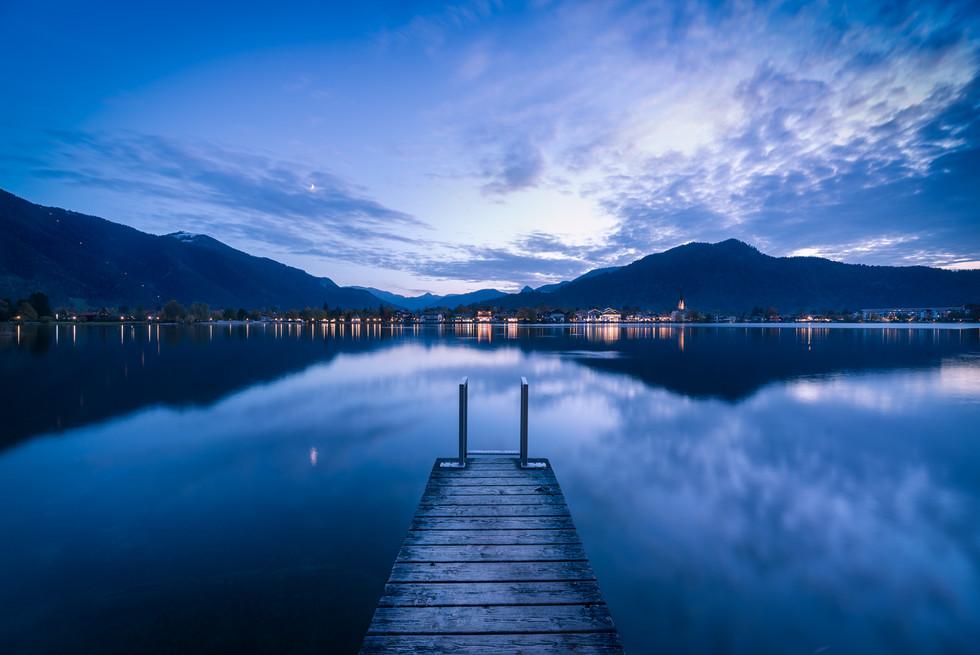 Blaue Stunde am Tegernsee