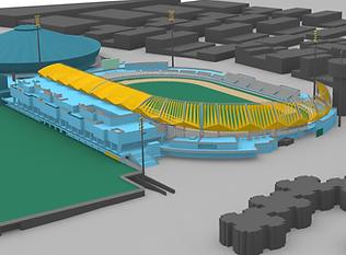 Videna Athletics Stadium CAD visualisation