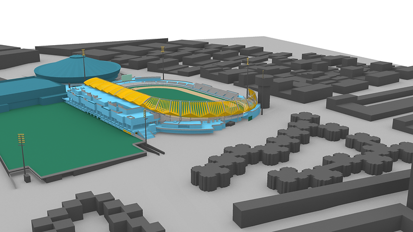 3D view of the Pan American Games Athletics Stadium