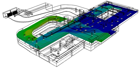 Car park compiance modeling to determine Air Changes