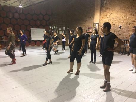 Teaching to Ensenada's Folkloric Ballet