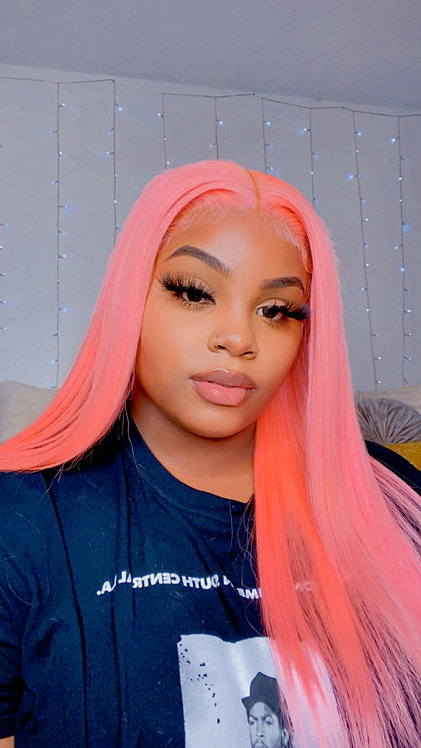 Custom Cotton Candy Pink Wig