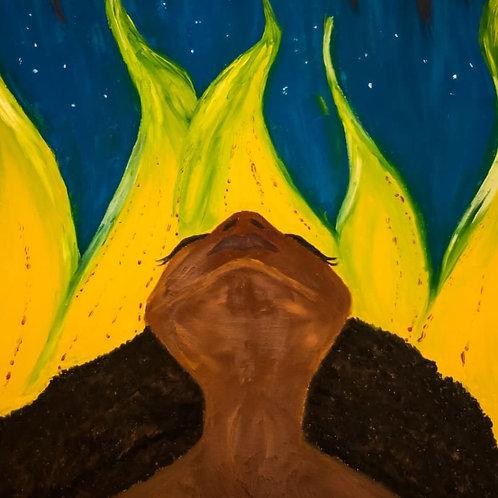 Rising into the Night Sky Art Print Poster