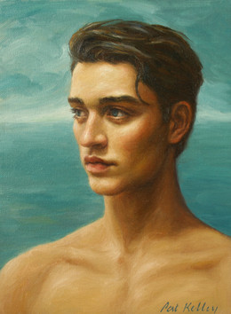 """Man by the Sea, oil on canvas. 12""""x9"""""""