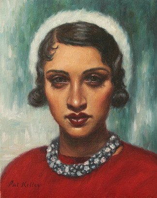 """Renée au Soleil, oil on canvas, 10""""x8"""""""