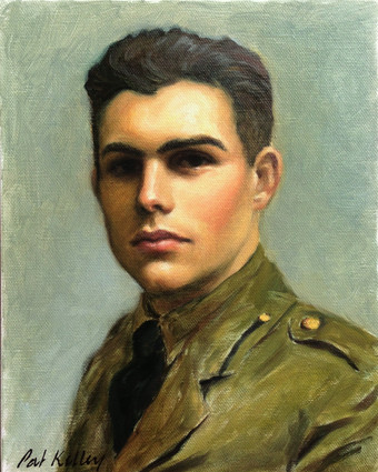 """Portrait of Young Ernest Hemingway, oil on canvas, 10""""x8"""""""