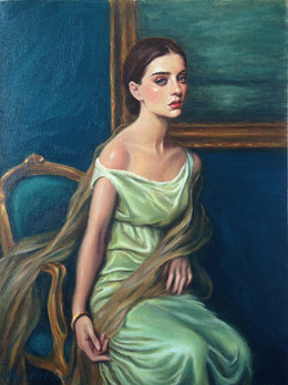 "My Last Duchess, oil on canvas, 16""x12"""