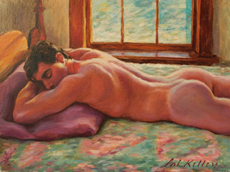 """""""Afternoon Nap"""", 9""""x12"""", oil on canvas"""