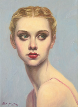 """Girl with Finger Waves, oil on canvas, 12""""x9"""""""