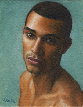 "Portrait of a Young Man, oil on canvas, 10""x8"""