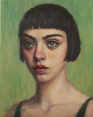 """Millicent, oil on canvas, 10""""x8"""""""