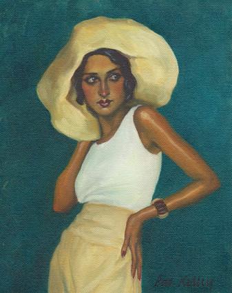 "Portrait of Renee Perle, oil on canvas, 10""x8"""