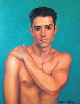 """Young Man with Dark Eyes, oil on canvas, 14""""x11"""""""