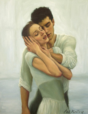 "Love, oil on canvas, 14""x11"""
