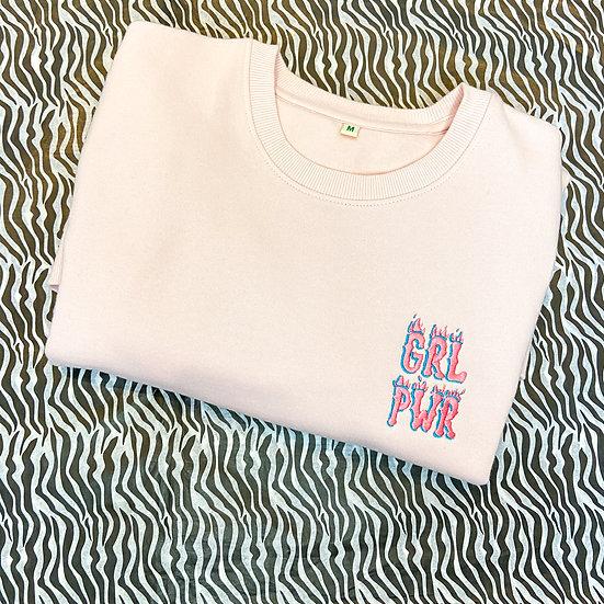 Soft Pink GRL PWR Crew Neck Sweater