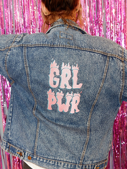 Courtney Vintage Embroidered Denim Jacket