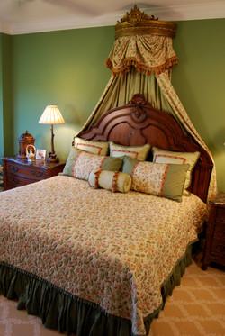 Master Bedroom Dust Ruffle Bed View.JPG