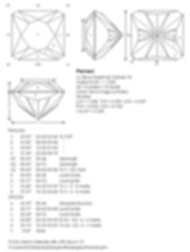 Steve Sweetman custom bespoke gem designs, gemstone cutting, Ultra Tec faceting machines UK, facet diarams