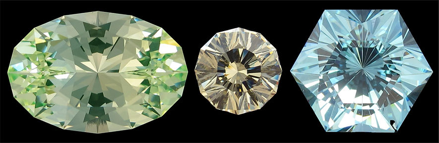 Ultra Tec precision cut faceted gemstones