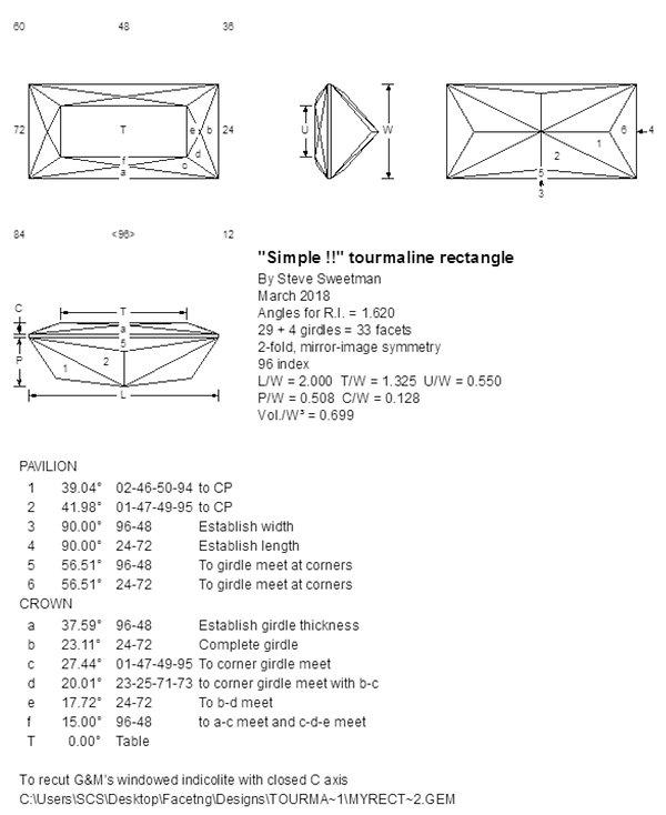 gemstone recut design, Ultra Tec faceting, Steve Sweetman