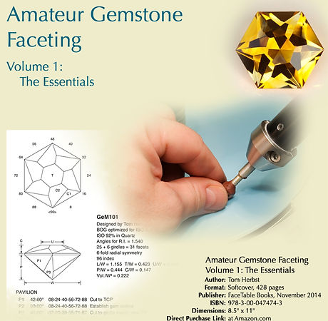 Amateur Gemstone Faceting by Tom Herbst, faceting tuition and advice