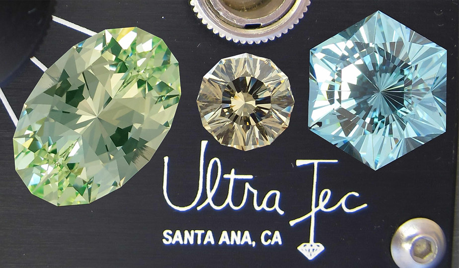 Ultra Tec faceted competition gemstones
