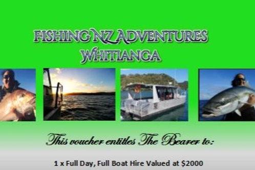 Full Boat Hire, Full Day Fishing Trip