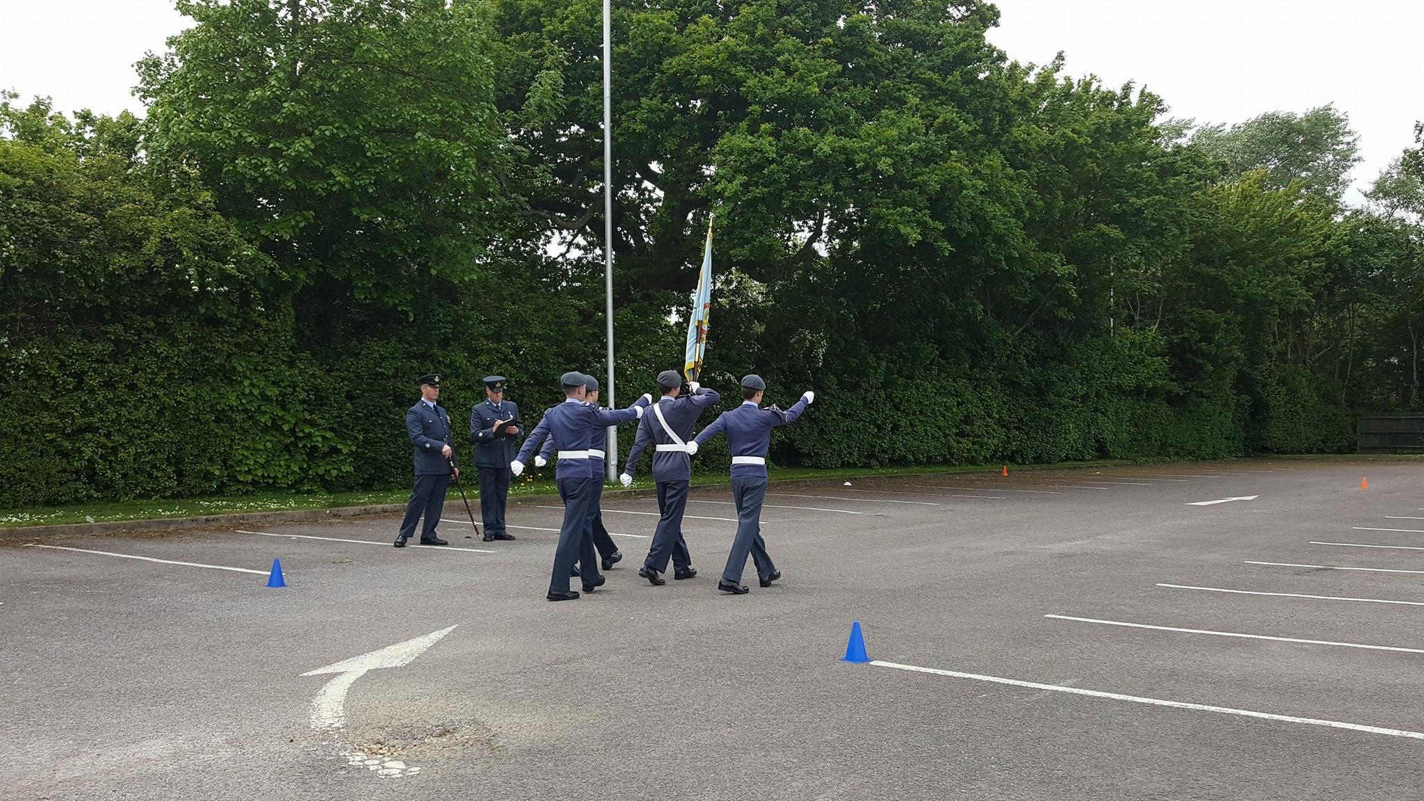 Squadron banner team