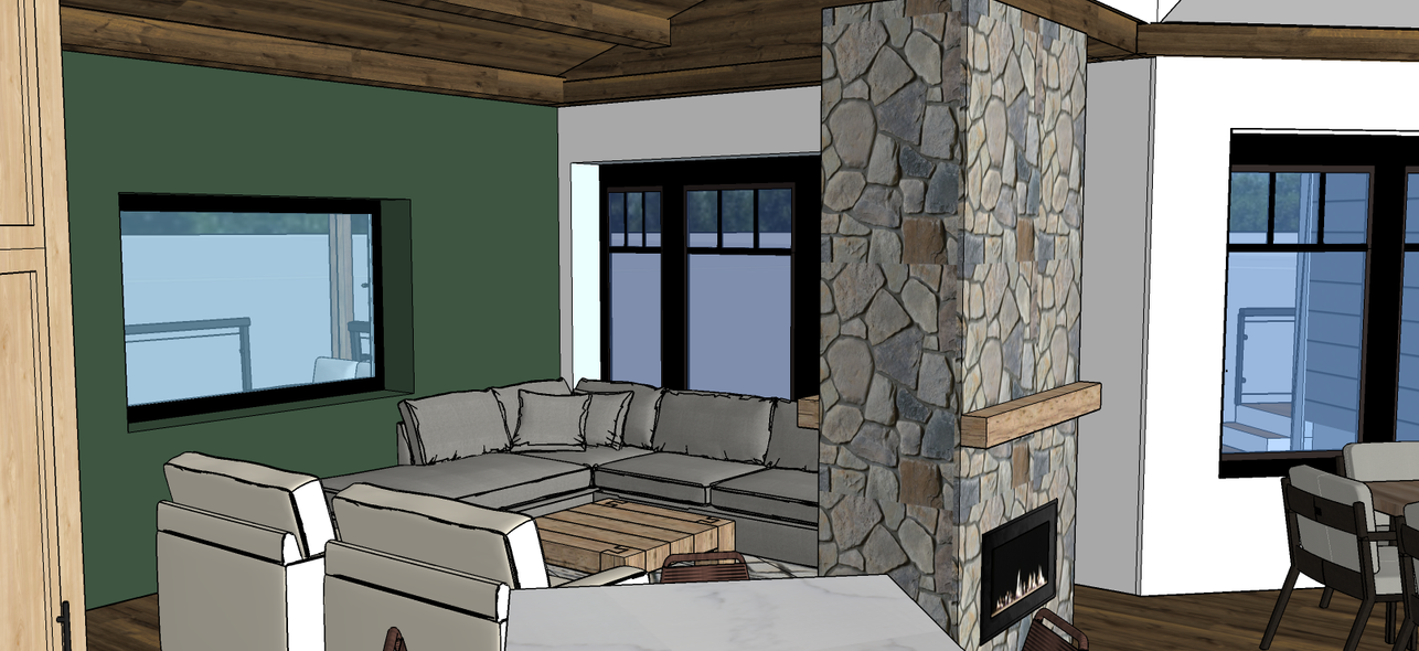 Dual Sided Fireplace