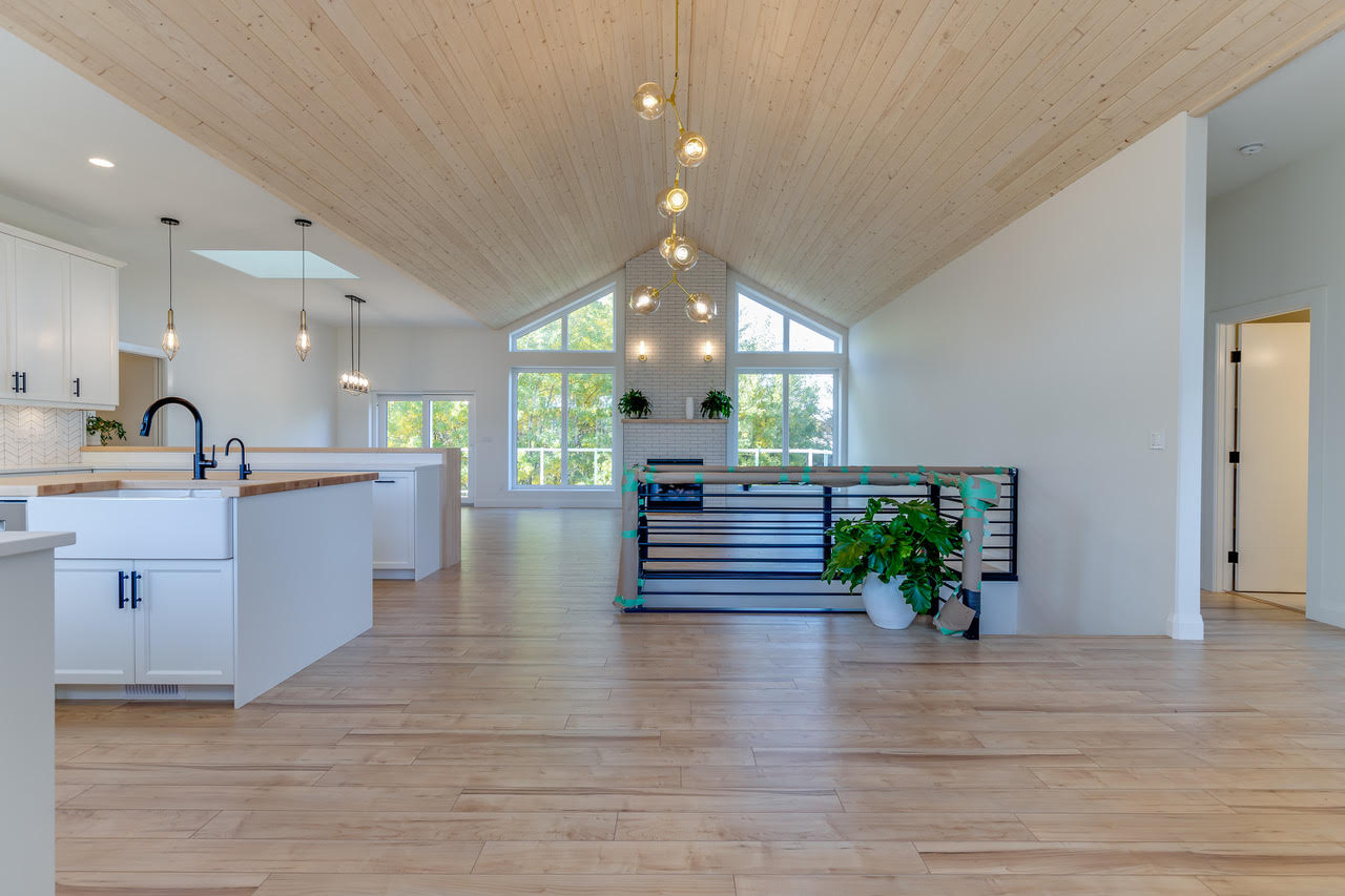 Vaulted Modern Wood Ceiling