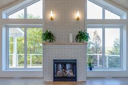 Modern Bright Fireplace Facade