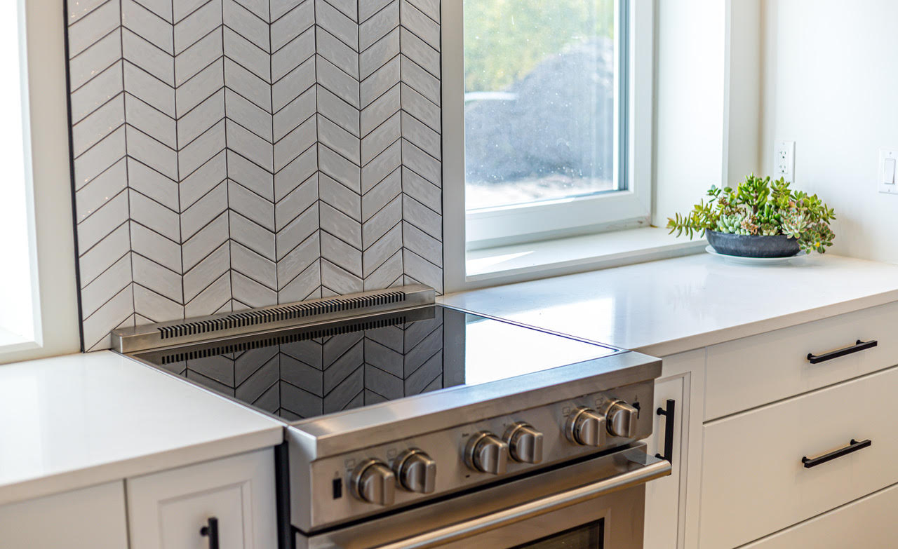 White Chevron Tile