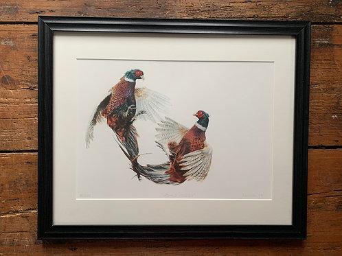 SALE Framed Fighting Cocks II Print