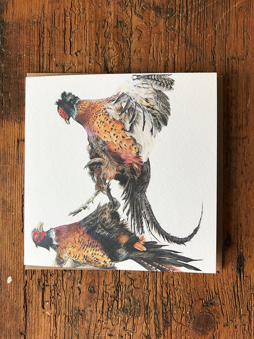 Pheasants Greeting Card