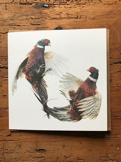 Fighting Cocks Greeting Card
