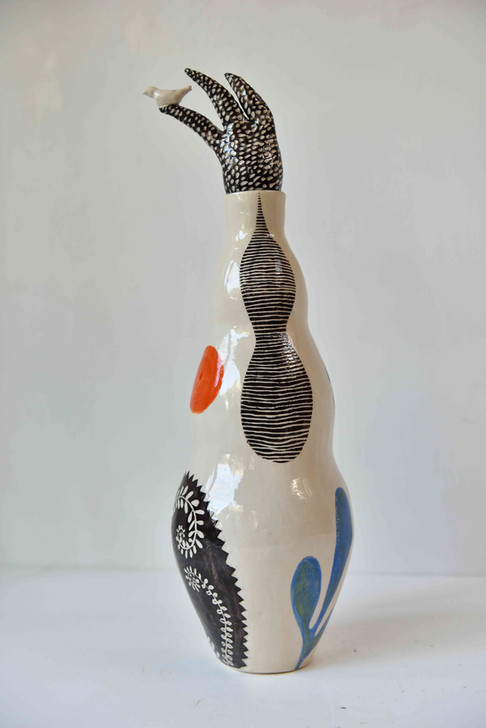 large curvy bottle with a quiff (reverse side)